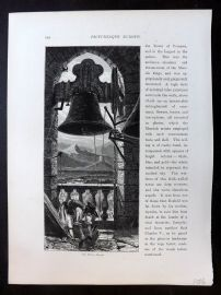 Picturesque Europe C1875 Antique Print. Bell Tower, Murcia, Spain